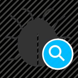 bug, bug find, bug tracking, debugging, testing, unit testing icon