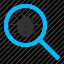 bug, bug search, bug tracking, find bug, testing, unit testing icon
