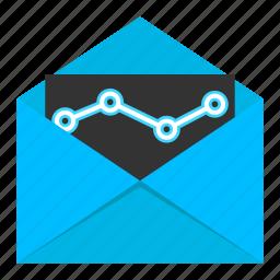 analytics, email, email analytics, email marketing, marketing, seo icon
