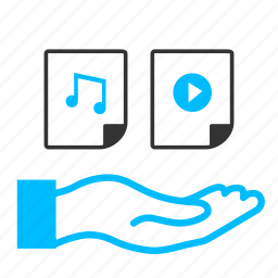 audio sharing, data sharing, file sharing, media sharingg, online streaming, sharing, video sharing icon