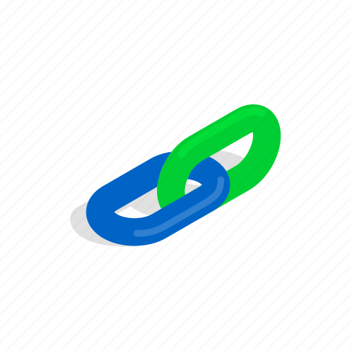 chain, connection, element, hyperlink, isometric, link, strength icon