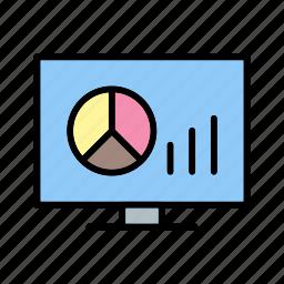 bar chart, graph, graphs, pie chart icon