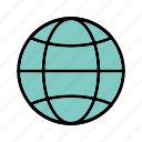 earth, globe, site, web icon
