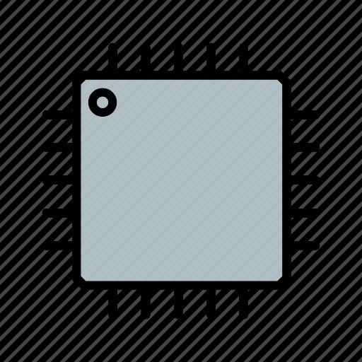 chip, hardware, integrated, micro, microchip, processor, silicon icon