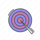 aim, goal, heading, reach, seo, target icon
