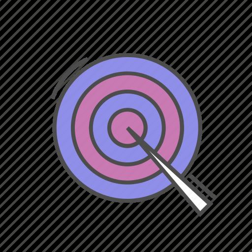 aim, goal, heading, reach, seo, target icon