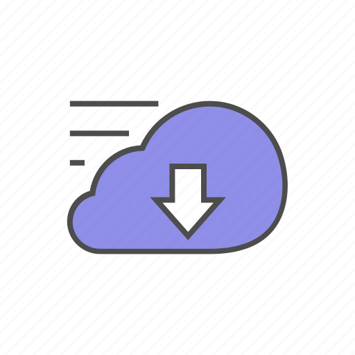 cload, download, fast, rapid, seo, speed, storage icon