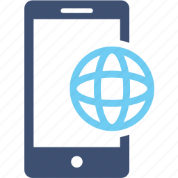 application, business, connection, mobile, network, phone, web icon