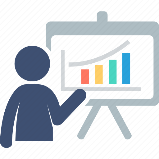 analysis, business, diagram, presentation, report, statistics, training icon