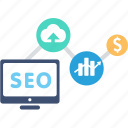 analytics, connection, ecommerce, marketing, network, seo, shopping icon