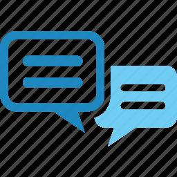 bubble, chat, community, online, social, talk, webboard icon