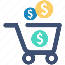 cart, currency, e-commerce, money, seo, shopping icon