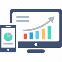 analytics, device, diagram, graph, marketing, report, statistics icon
