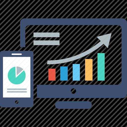 analytics, device, diagram, graph, marketing, report, statistics icon