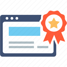 achievement, approved, award, badge, best, certification, guarantee icon