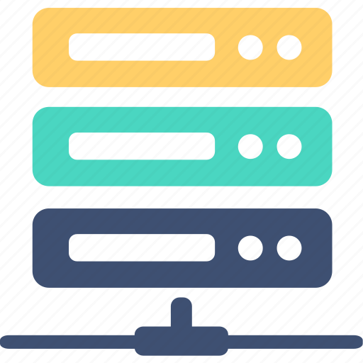 array, database, hosting, network, server, storage, system icon