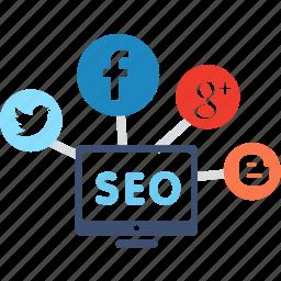 advertising, business, community, ecommerce, marketing, seo, social icon