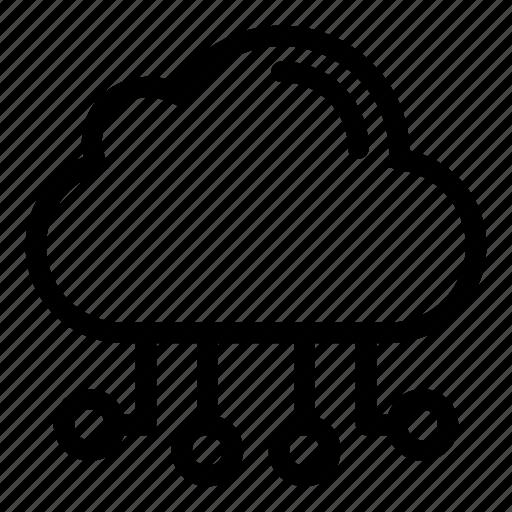 cloud computing, cloud data, hosting, multimedia, networking, web development icon