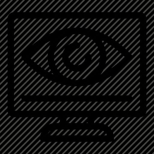 eye, monitor, monitoring, screen, search, technology icon