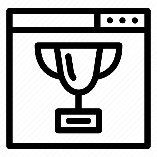browser, cup, ranking, trophy icon
