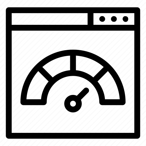 browser, measuring, multimedia, speedometer, velocity, website icon