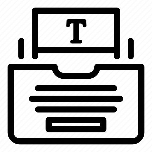copy, sheet, typewriter, writing icon