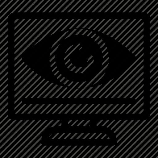 Search, eye, monitor, screen, monitoring, technology icon