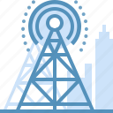broadcast, communication, network, satellite, tower icon