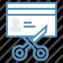 business, card, chop, credit, cut, mark icon