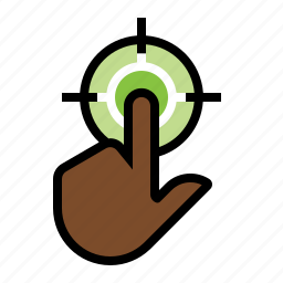click, click target, marketing, push button, seo, touch pad, touch screen icon