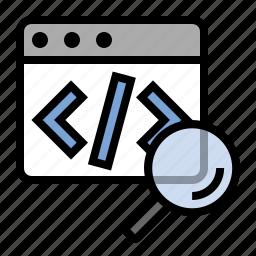code, marketing, markup, search, seo icon