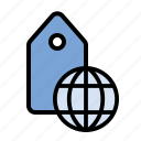 geolocation, globe, international, location, marketing, seo, tagging icon