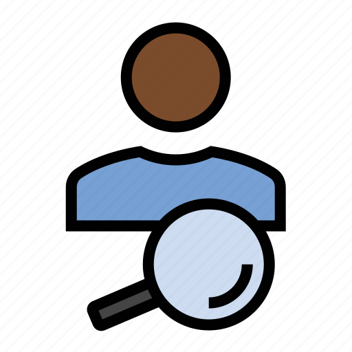 magnifying glass, market research, marketing, search, seo, user icon
