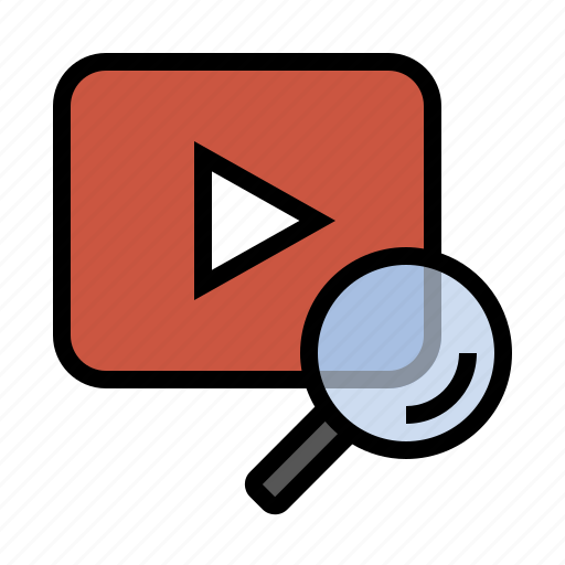marketing, search, seo, video, video search icon