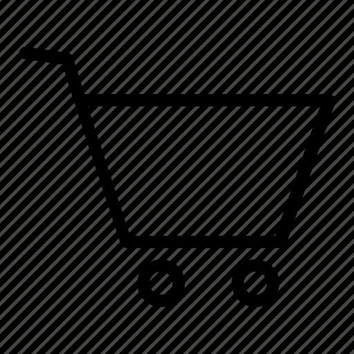 basket, cart, retail, shopping, trolley icon