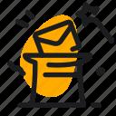 hat, magic, mail, mailing, marketing, seo, wand icon