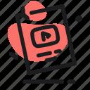 award, button, creator, seo, social, youtube icon
