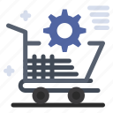 cart, online, setting, shopping, store
