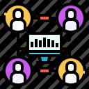analytics, marketing, seo, share, statistics, traffic, web icon