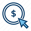 advertisement, click, pay per click, pay per cost, seo icon