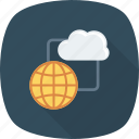cloud, computing, global, internet, storage icon