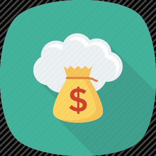 budget, cloud, finance, funding, money icon