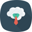 business, cloud, fashion, formal, office, tie, work icon