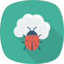 antivirus, cloud, computing, malware, virus icon