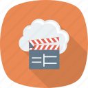 cinema, clapper, cloud, entertnment icon