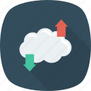 cloud, computing, download, upload icon