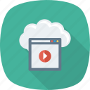 cloud, multimedia, storage icon