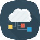 cloud, connection, storage, technology icon