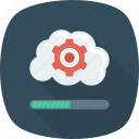 cloud, gear, loading, options, setting icon