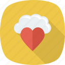 cloud, favorite, heart, love, romance icon
